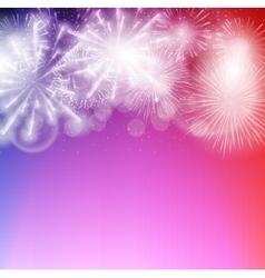 Fireworks salute on a dark vector