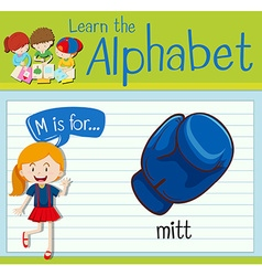 Flashcard letter M is for mitt vector image vector image