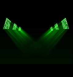 green stage lights background vector image vector image