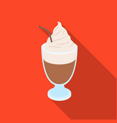 Iced coffeedifferent types of coffee single icon vector