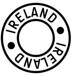 Ireland typographic stamp vector