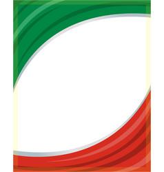 Italian flag frame vector