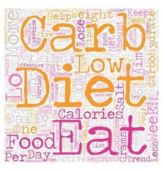 Lo carb diets can assist you rapid weight loss vector