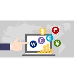 money around the worldfinance vector image