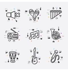 Music infographic vector