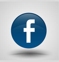 Original round blue facebook web icon vector
