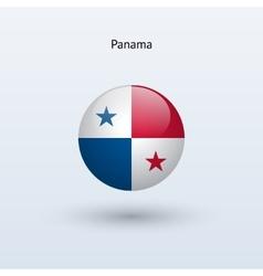 Panama round flag vector