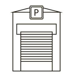 Parking garage icon outline style vector