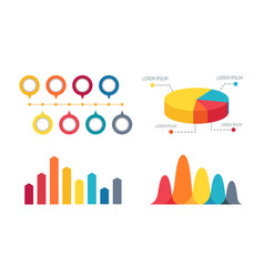 pie chart and bar graphs vector image