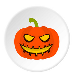 Pumpkin lantern icon circle vector