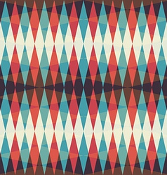 retro rhombus seamless pattern vector image