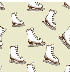 Seamless pattern with racing skates vector