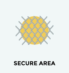Security fence vector