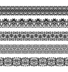 Set of repeating borders vector