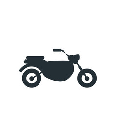 Silhouette motorcycle speed transport vector