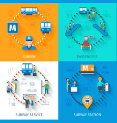 Subway design concept set vector