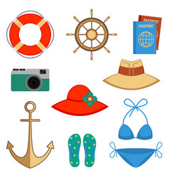 summer holidays accessories vector image