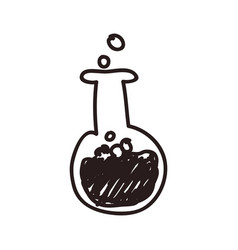 Test tube doodle vector