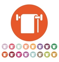 The towel icon bathroom symbol flat vector