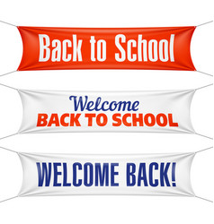 Welcome back to school banners vector