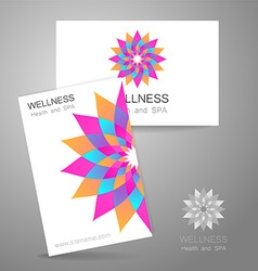 wellness logo vector image