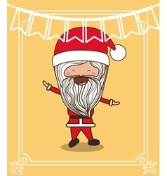 Santa claus cute frame character icon vector