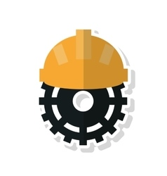 Gear and helmet of Under construction concept vector image