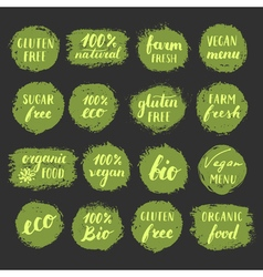 Foodlabels vector