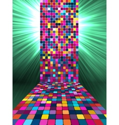 Disco mosaic background vector