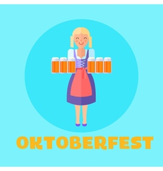 Oktoberfest festival poster or cars vector