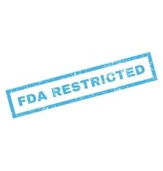 Fda restricted rubber stamp vector