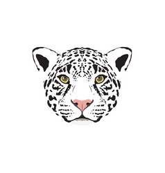 A white jaguar head vector