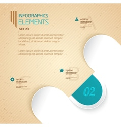 Business infographic number options vector image