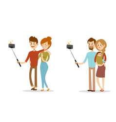 selfie people isolated vector image