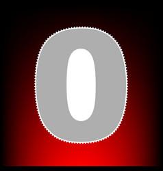 number 0 sign design template element postage vector image