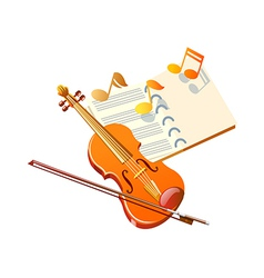 Icon violin vector