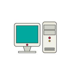 Computer flat vector