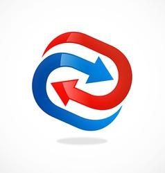 Arrow circle process abstract logo vector