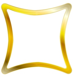 Golden square frame design vector
