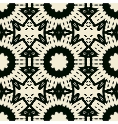 Ornate abstract black symmetrical lace vector
