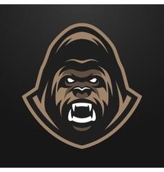 Angry Gorilla logo symbol vector image
