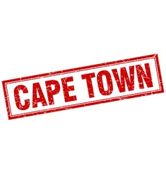 Cape town red square grunge stamp on white vector