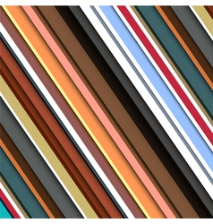 Striped pattern in retro colors vector