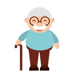 Cute grandfather isolated icon design vector