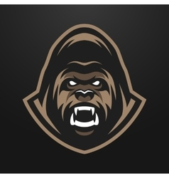 Angry gorilla logo symbol vector