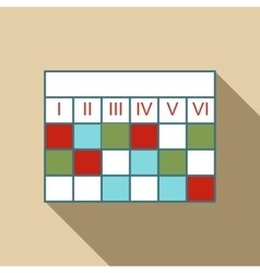 Business calendar infographic icon flat style vector