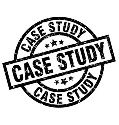 Case study round grunge black stamp vector