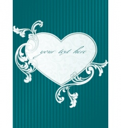 classic heart shaped frame vector image vector image