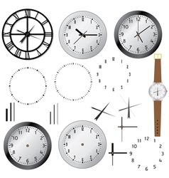 clock elements vector image vector image