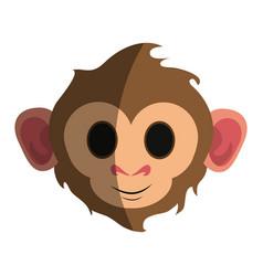 Cute expressive monkey cartoon icon imag vector